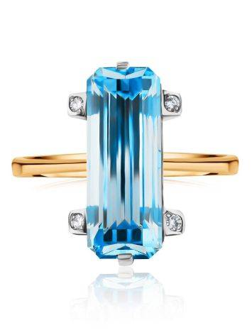 Chic Gold Topaz Diamond Ring, Ring Size: 8.5 / 18.5, image , picture 3