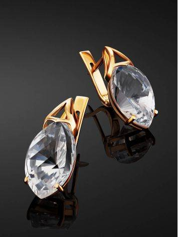 Amazing Gold Topaz Earrings, image , picture 2