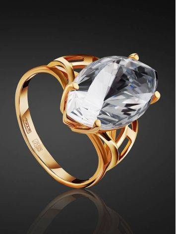 Fashionable Gold Topaz Ring, Ring Size: 8.5 / 18.5, image , picture 2