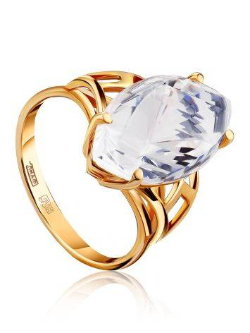 Fashionable Gold Topaz Ring, Ring Size: 8.5 / 18.5, image