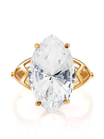 Fashionable Gold Topaz Ring, Ring Size: 8.5 / 18.5, image , picture 3