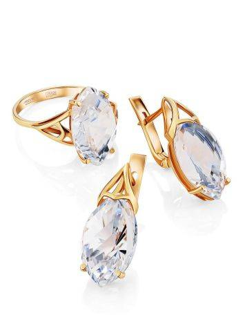 Fashionable Gold Topaz Ring, Ring Size: 8.5 / 18.5, image , picture 4