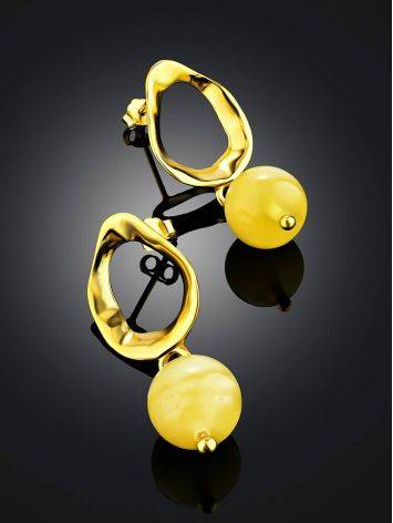 Chic Gilded Silver Amber Dangle Earrings The Palazzo, image , picture 2