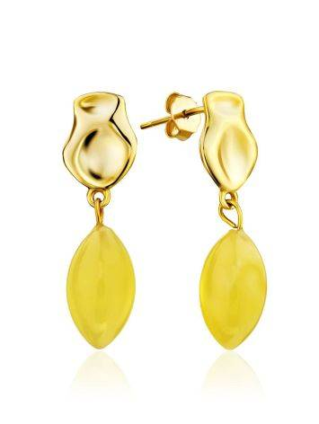 Charming Gilded Silver Amber Dangles The Palazzo, image