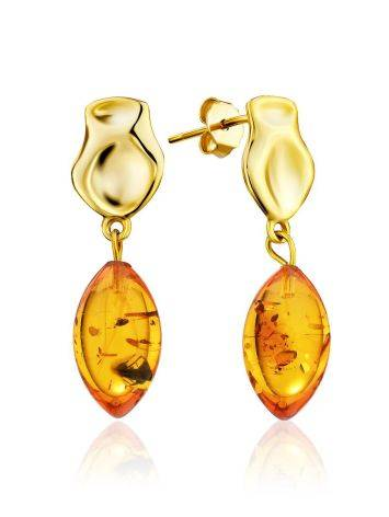 Gilded Silver Dangles With Luminous Cognac Amber The Palazzo, image
