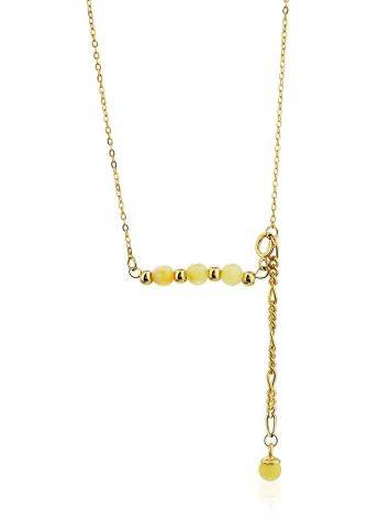 Horizontal Bar Gilded Silver Necklace With Amber The Palazzo, image