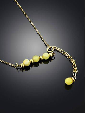 Horizontal Bar Gilded Silver Necklace With Amber The Palazzo, image , picture 2