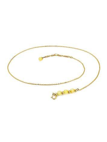 Horizontal Bar Gilded Silver Necklace With Amber The Palazzo, image , picture 3