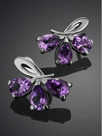 Charming Silver Amethyst Earrings, image , picture 2