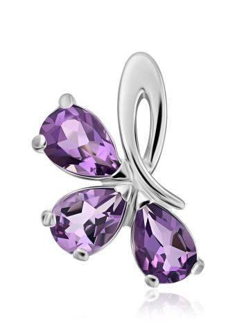 Charming Silver Amethyst Pendant, image
