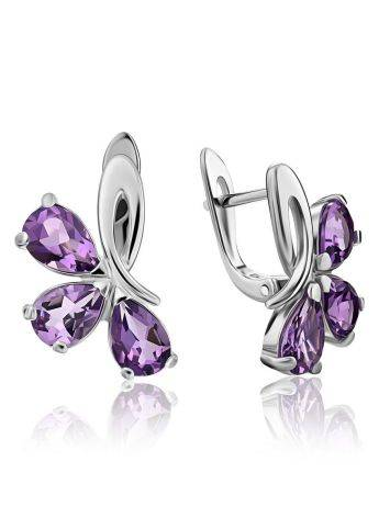 Charming Silver Amethyst Earrings, image