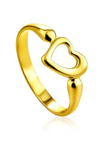 Heart Shaped Gilded Silver Ring The Liquid, Ring Size: 6 / 16.5, image