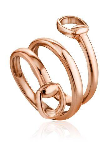 Designer Gilded Silver Belt Shaped Ring The ICONIC, Ring Size: Adjustable, image
