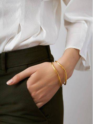 Chic Gold Plated Silver Cuff Bracelet The ICONIC, image , picture 3