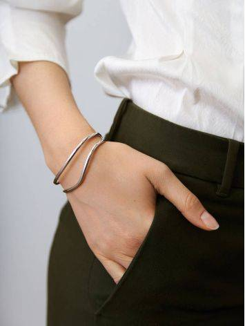 Boho Chic Silver Cuff Bracelet The ICONIC, image , picture 5