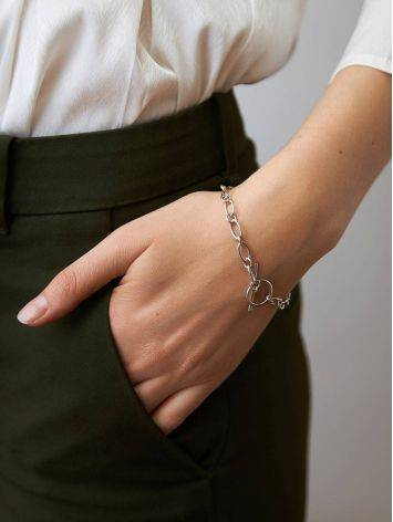 Minimalist Silver Chain T-Bar Bracelet The ICONIC, image , picture 4