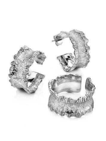 Fabulous Silver Hoop Earrings The Liquid, image , picture 3