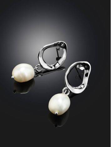 Pearl Drop Earrings on Sterling Silver The Palazzo, image , picture 2
