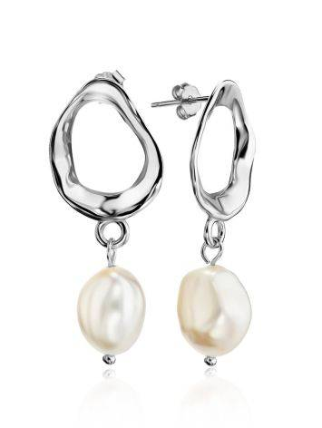 Pearl Drop Earrings on Sterling Silver The Palazzo, image