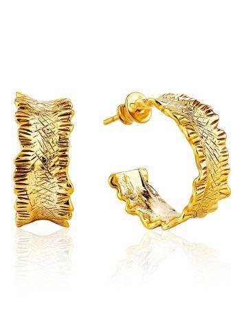 Wonderful Gold Plated Hoop Earrings The Liquid, image