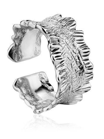 Textured Sterling Silver Ring The Liquid, Ring Size: Adjustable, image