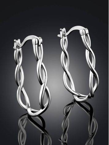 Twisted Design Silver Hoops The Liquid, image , picture 2