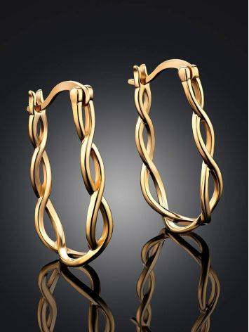 Double Twisted Hoop Earrings The Liquid, image , picture 2