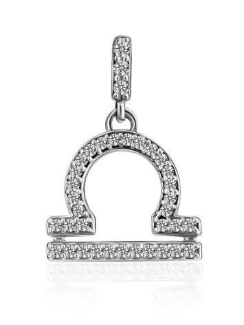 White Gold Diamond Libra Sign Pendant, image