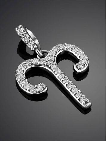 White Gold Diamond Aries Sign Pendant, image , picture 2
