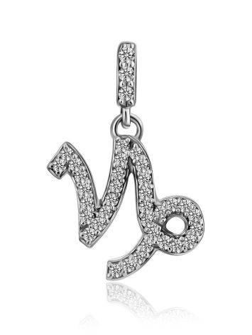 White Gold Diamond Capricorn Sign Pendant, image