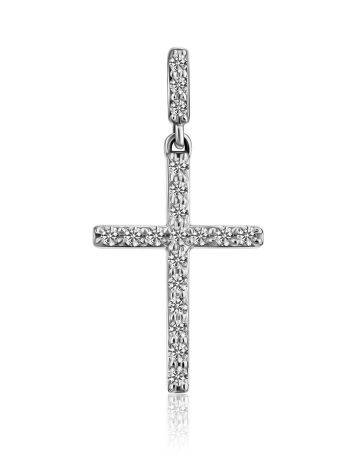 Dazzling Diamond Encrusted Cross Pendant, image