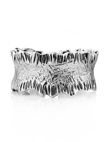 Textured Sterling Silver Ring The Liquid, Ring Size: Adjustable, image , picture 3