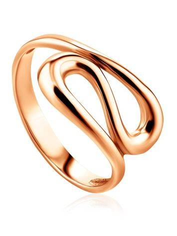 Rose Gold Plated Silver Ring The Liquid, Ring Size: 5 / 15.5, image