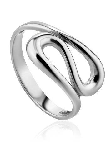Intricately Shaped Silver Ring The Liquid, Ring Size: 5 / 15.5, image