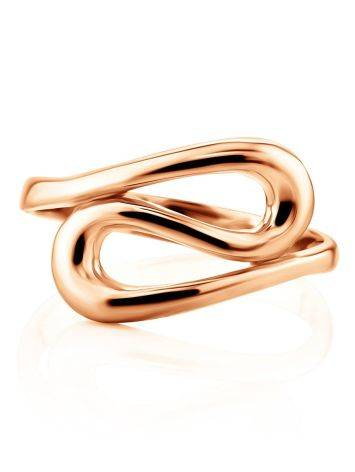 Rose Gold Plated Silver Ring The Liquid, Ring Size: 5 / 15.5, image , picture 2