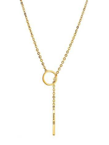 Gold Plated Silver Tie Necklace The ICONIC, image