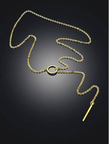 Gold Plated Silver Tie Necklace The ICONIC, image , picture 2