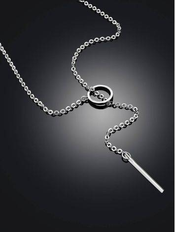 Sterling Silver Tie Bar Necklace The ICONIC, image , picture 2