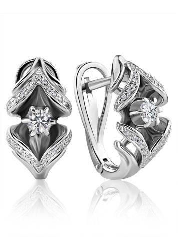 Classic White Gold Diamond Earrings, image