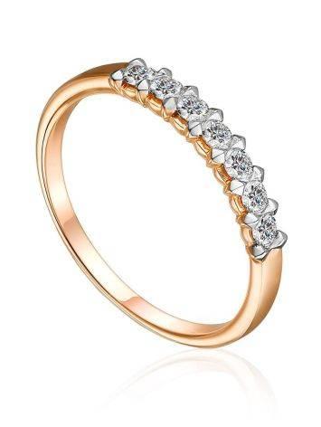 Chic Gold Diamond Ring, Ring Size: 7 / 17.5, image