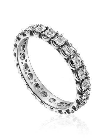 White Gold Diamond Eternity Ring, Ring Size: 5.5 / 16, image