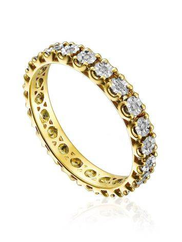 Trendy Gold Diamond Eternity Ring, Ring Size: 6.5 / 17, image