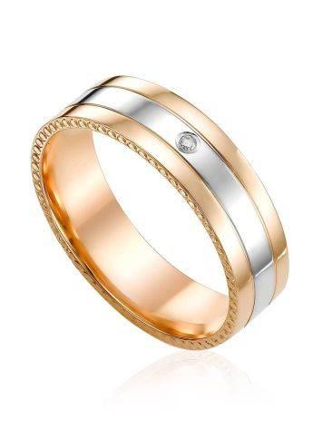 Mixed Gold Diamond Band Ring, Ring Size: 5.5 / 16, image
