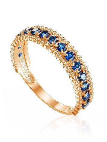 Shimmering Gold Sapphire Band Ring, Ring Size: 6.5 / 17, image