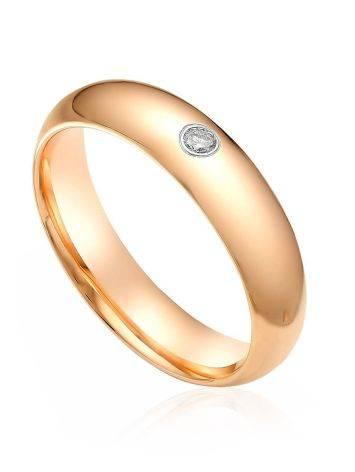 Minimalist Gold Diamond Ring, Ring Size: 5.5 / 16, image