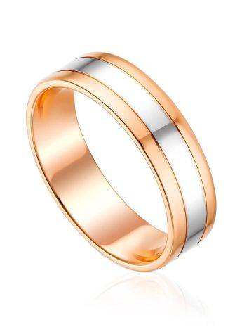 Glossy Mixed Gold Band Ring, Ring Size: 5.5 / 16, image