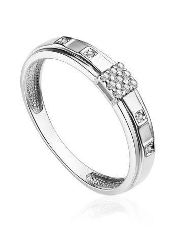 Fashionable White Gold Diamond Band Ring, Ring Size: 8.5 / 18.5, image