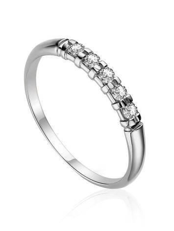 Shimmering White Gold  Diamond Ring, Ring Size: 5 / 15.5, image