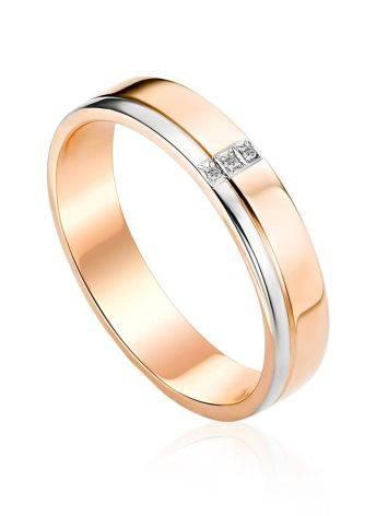 Glossy Gold Diamond Band Ring, Ring Size: 7 / 17.5, image