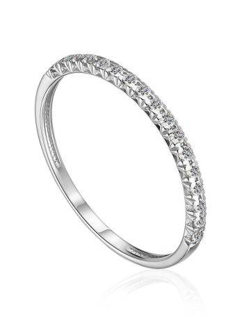Refined White Gold Diamond Ring, Ring Size: 6.5 / 17, image
